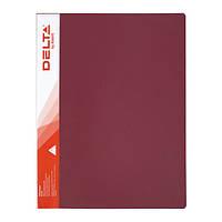 Папка А4, с прижимом, красная, Delta by Axent, D1321-04, 18389
