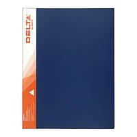 Папка А4, с прижимом, синяя, Delta by Axent, D1321-01, 18386