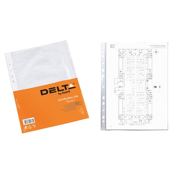 Файл А4+, бюджет, прозрачный, 100 шт/уп, DELTA by Axent, D1002, 30310
