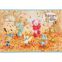 """Альбом для рисования 12 листов, скоба, """"Popcorn the Bear"""", Kite, РО17-241, 204582"""