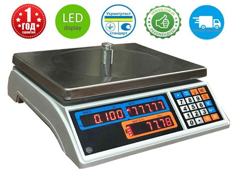 Весы торговые Днепровес ВТД-15Т1 LED - Компания УкрВесы [Ukrvesi] в Днепре