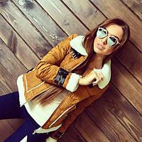 Женская куртка-дубленка