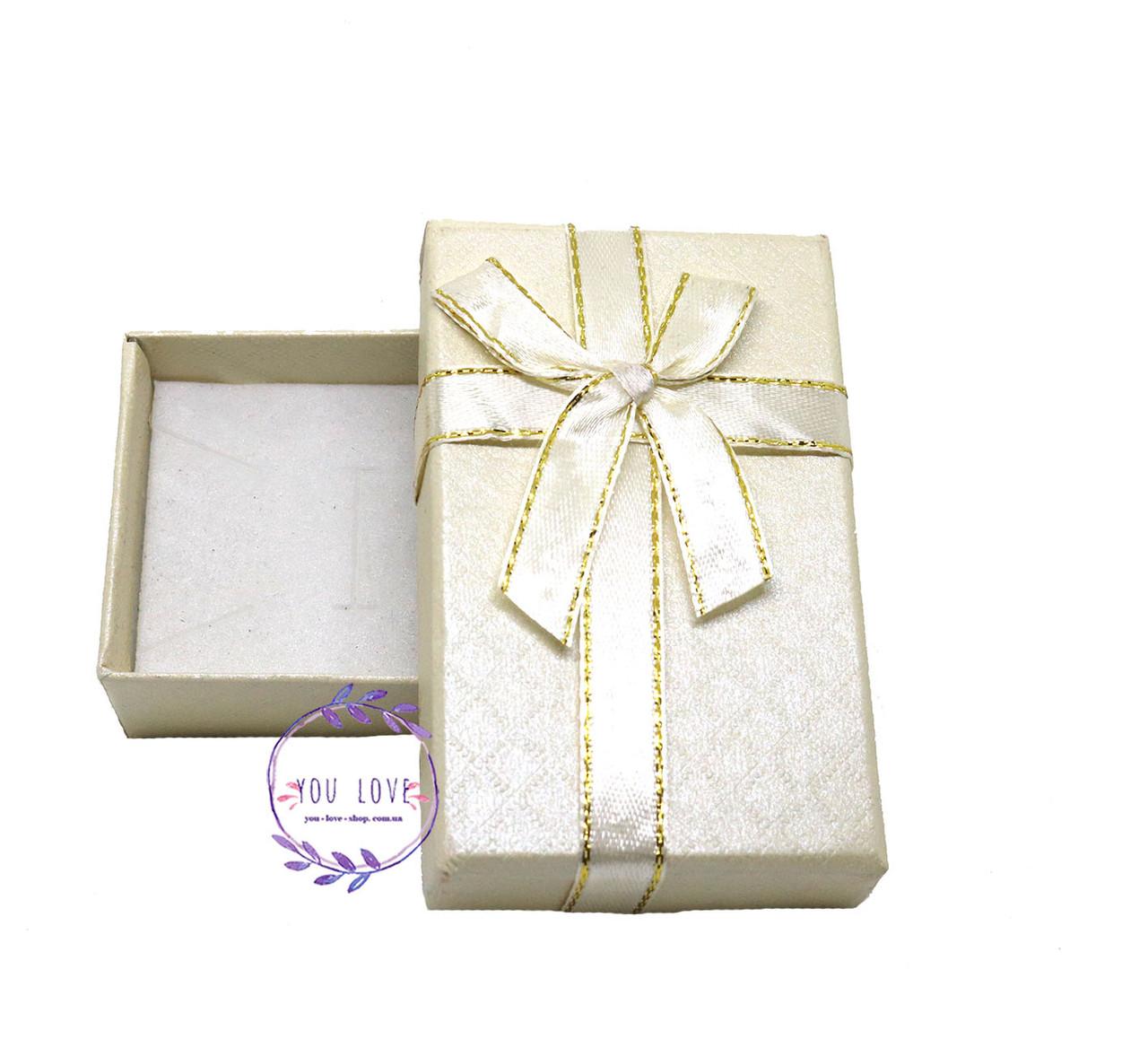 Коробочка подарочная для бижутерии Классическая Серая Бежевая