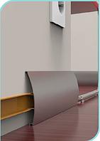 Плинтус алюминиевый круглый 13х75 мм Серебро