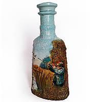 Подарок мужчине охотнику Декор бутылки Утиная охота Ручная работа