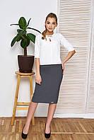 Офисный женский костюм Дорис серый ТМ Arizzo 44-50  размеры