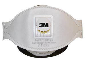Респиратор противоаэрозольный 3M AURA  9312+ FFP1 NR D клапан, фото 2