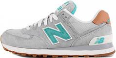 Мужские кроссовки New Balance 574 Grey/Green, Нью беланс 574