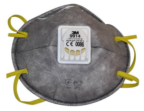 Респиратор противоаэрозольный 3M 9914 FFP1 NR D клапан, фото 2