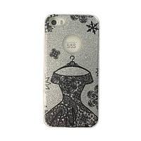 Чехол силиконовый Mask Collection Платье черное в серебре для iPhone 5s