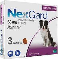 Таблетки NexGard от блох и клещей для собак, 10-25 кг