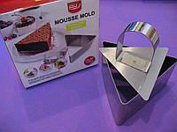 Форма для гарнира, десертов Треугольник с выталкивателем