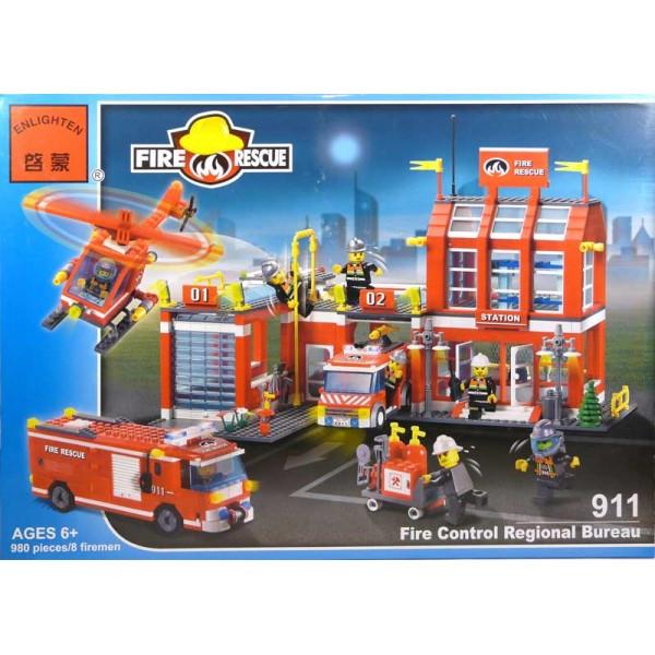 Конструктор Brick Пожарная охрана 980 деталей