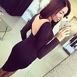 Женское красивое платье длинны миди с пояском (3 цвета) (, фото 2