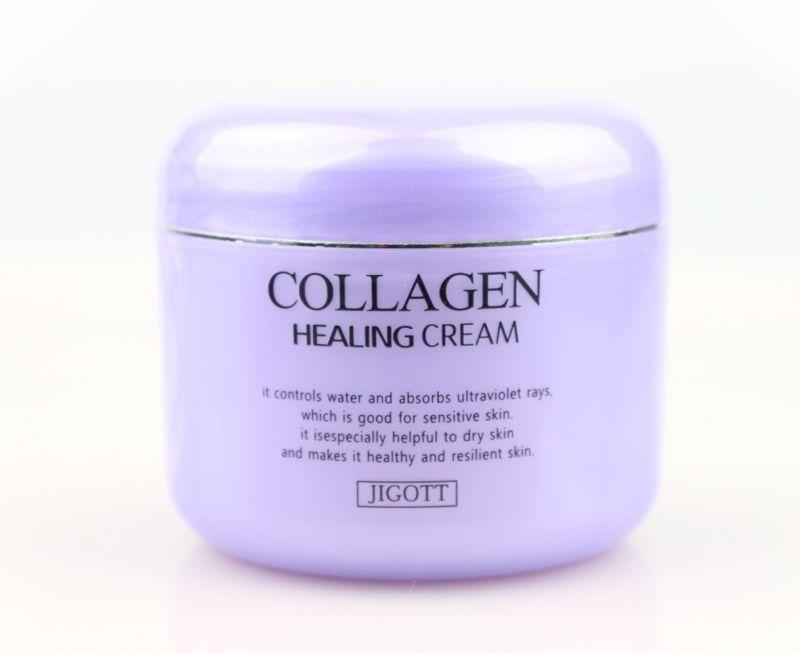 Ночной питательный крем с коллагеном Jigott collagen healing cream, 100 мл