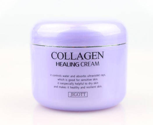 Ночной питательный крем с коллагеном Jigott collagen healing cream, 100 мл, фото 2