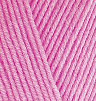 Пряжа Alize BABY BEST ярко-розовый №561 бамбук для ручного вязания