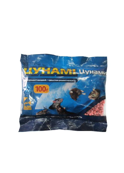 Цунами 100 г (зерно травленное) - яд для грызунов мышей и крыс
