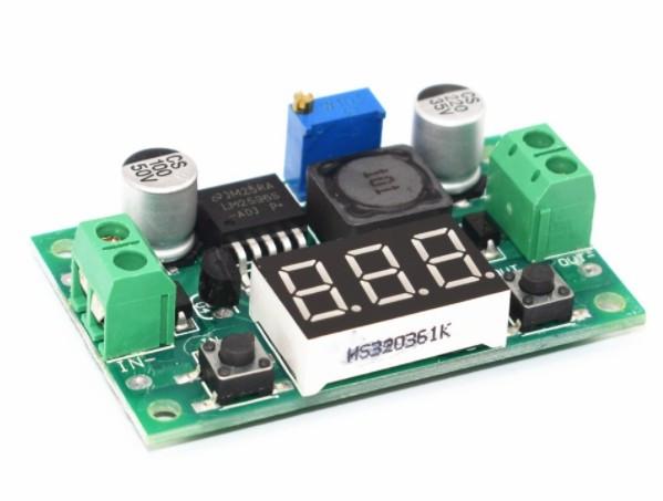 Схема LM2596 понижающий модуль с экраном #100481