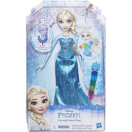 Дисней Эльза Холодное сердце Фрозен Волшебное сияние Disney Frozen Crystal Glow Elsa, фото 2