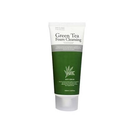 Пенка для умывания с зеленым чаем 3W CLINIC Green Tea Foam, 100 мл , фото 2