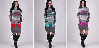 Вязанные платья - Мулине