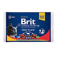 Brit Premium Влажный корм Ассорти Мясная тарелка (пауч) 4*100гр