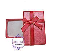 Коробочка подарочная для бижутерии Классическая Серая Красная