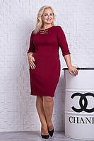 Стильное женское платье цвета марсала