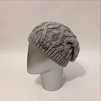"""Женская стильная шапка """"Чулок"""" крупной вязки (расцветки)"""