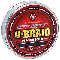 Шнур DAM Effzett 4-BRAID 125м 0,10мм 4,5кг/10Lb (moss green)