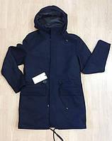 Плащ-куртка черная с капюшоном. Jack&Jones