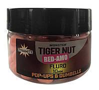 Бойлы Dynamite Baits Monster Red-Amo Pink Fluoro Pop-Ups & Dumbells 10mm 100g