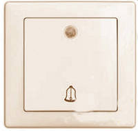 Выключатель звонка с подсветкой 9126 WEGA крем Delux