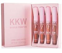 Набір помад Kylie Creme Liquid Lipstick KKW (4 шт.)