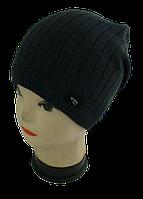 Мужская шапка зимняя, флис м 7074, разные цвета  (В.И.В.)