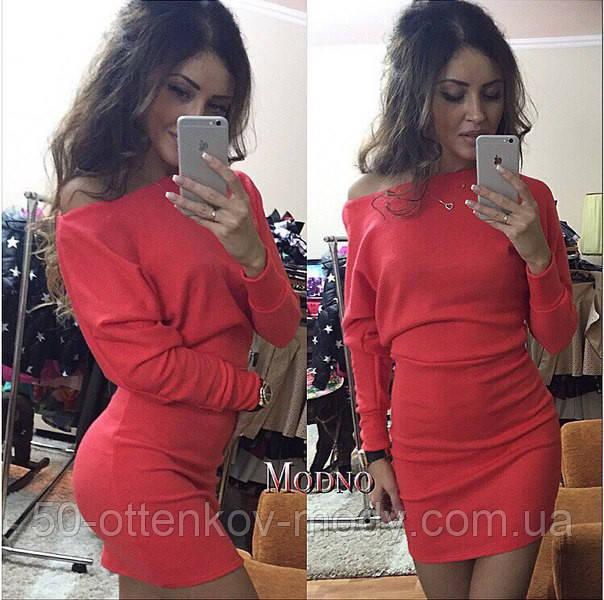 0d3dac46299 Женское стильное платье-туника в виде летучей мышки (2 цвета ...