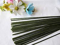 Проволока герберная (флористическая) в обмотке. 3,5 мм 40 см. 10 шт, фото 1