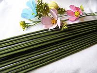 Проволока герберная (флористическая) в обмотке. 5 мм 60 см. 1 шт - 6 грн, фото 1