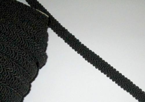 Тесьма Шубная 1,3 см черная