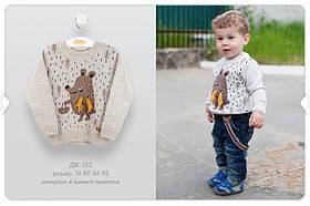 Джемпер для хлопчиків Бежевий Трикотаж Бембі Україна 80 см, 9 місяців, 48 см