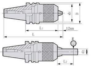 BT40-APU16-120  Патрон сверлильный самозажимной, фото 2