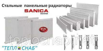Стальной радиатор Sanica 22 тип (500 х 800 мм) / 1543 Вт, фото 2