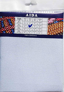 Канва AIDA PREMIUM №14 Белая 50х50 (Южная Корея)