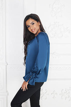 """Нарядная шелковая женская блуза """"Luisa с длинным рукавом, фото 2"""