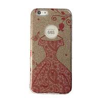 Чехол силиконовый Mask Collection Платье красное в золоте для iPhone 6s
