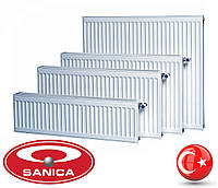 Стальной радиатор Sanica 22 тип (500 х 2600 мм) / 5015 Вт
