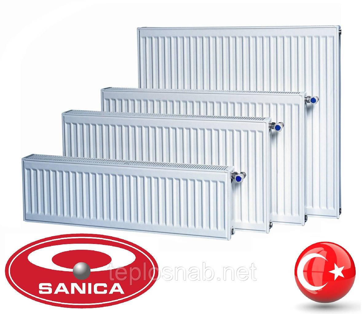 Стальной радиатор Sanica 22 тип (500 х 1300 мм) / 2508 Вт