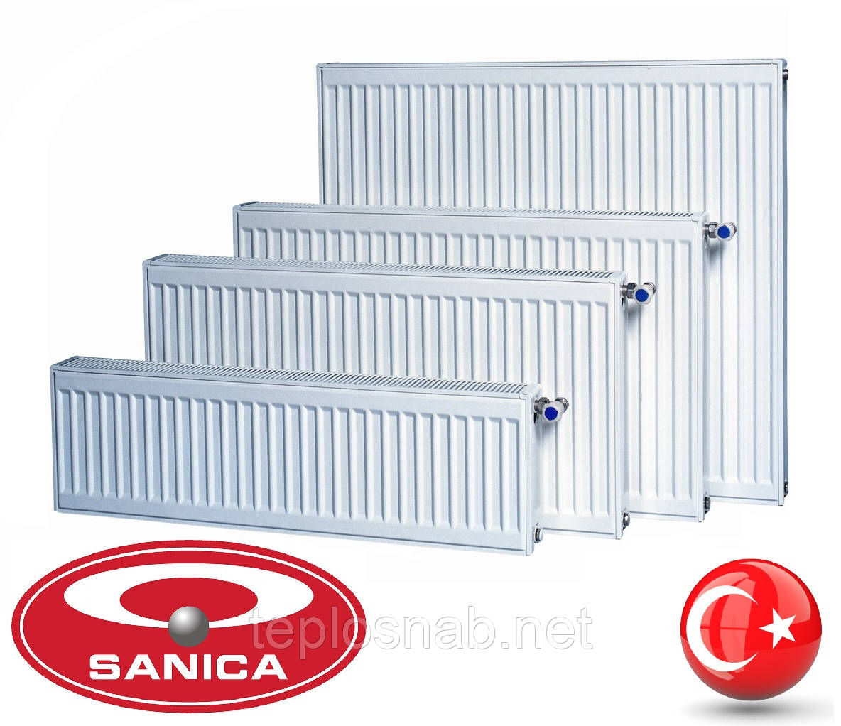 Стальной радиатор Sanica 22 тип (300 х 2600 мм) / 3300 Вт