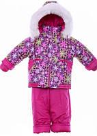 Детский зимний костюм на овчине-подстежке (от 6 до 18 месяцев) Сливовая поляна